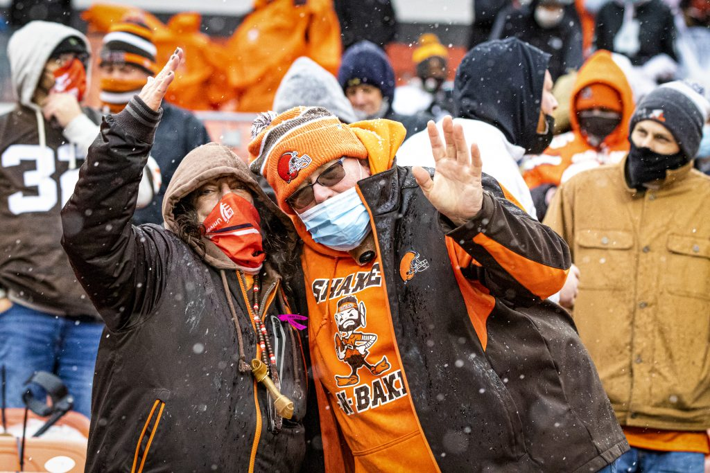 Fans during gaame at FirstEnergy Stadium